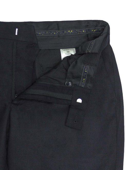 Modern / Classic Fit Black Jetsetter Flexi Waist Smart Pocket Dress Pants - DPC1E6.5
