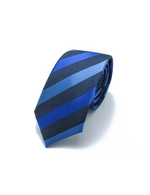 Blue Tones Stripes Woven Necktie NT75.4