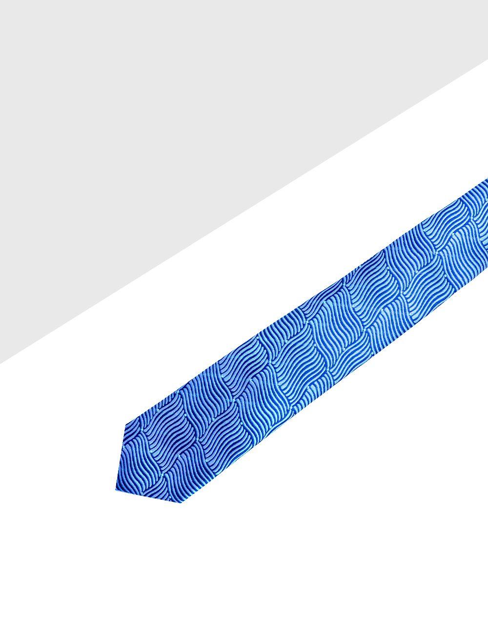 Blue Waves Woven Necktie - NT45.4