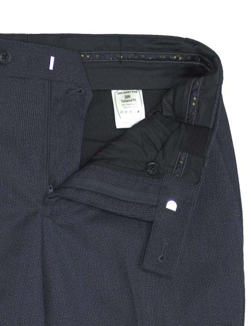 Slim / Tailored Fit Grey Jetsetter Flexi Waist Smart Pocket Dress Pants - DPT1E7.5