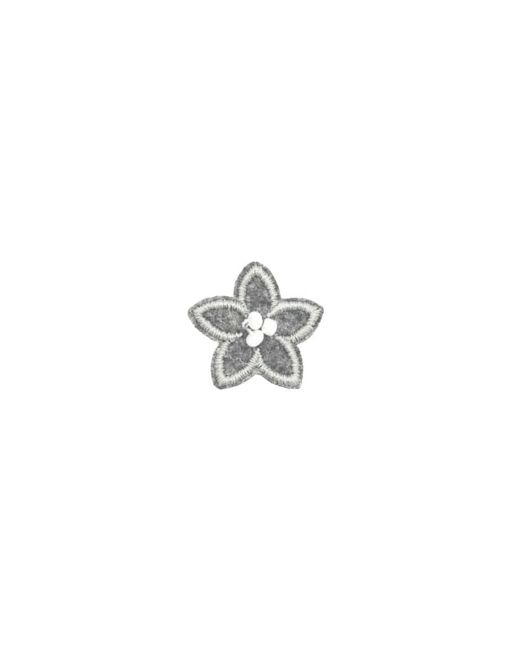 Grey with White Floral Lapel Pin LP15.10