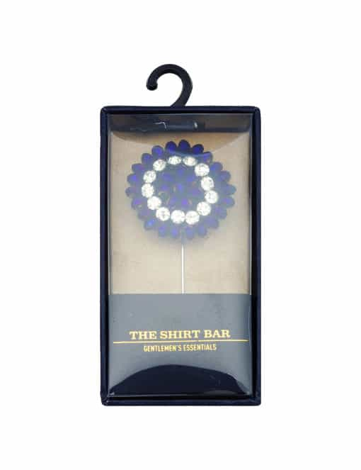 Dark Purple Beaded Floral Lapel Pin LP26.10