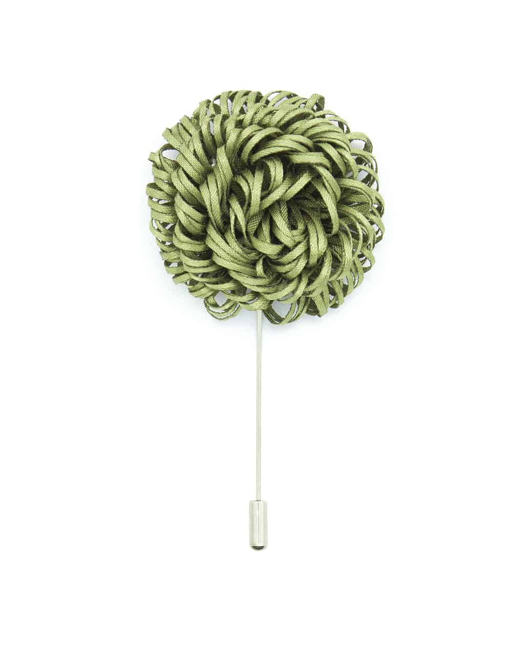 Olive Green Twirl Floral Lapel Pin LP48.10