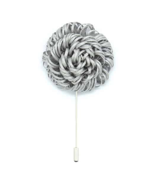 Light Grey Twirl Floral Lapel Pin LP52.10