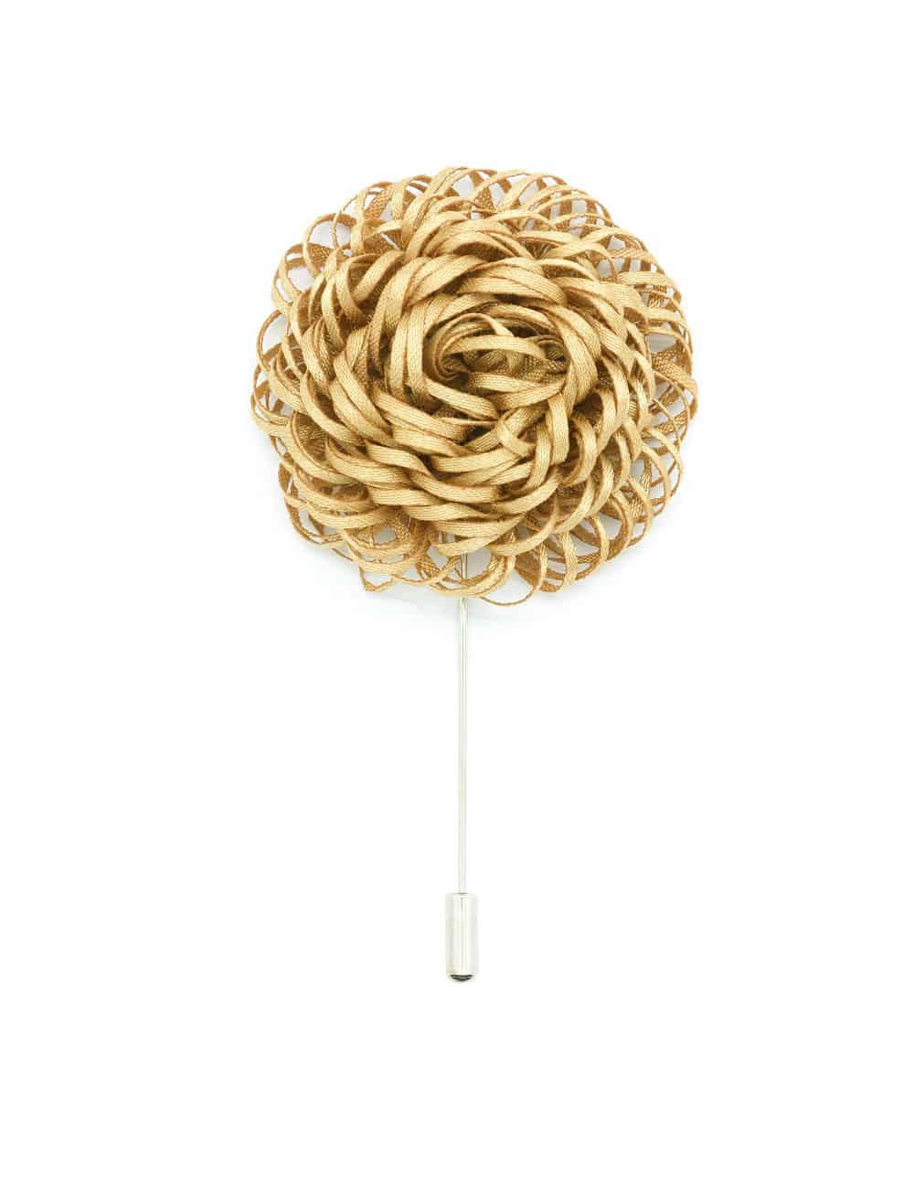 Brown Twirl Floral Lapel Pin LP53.10