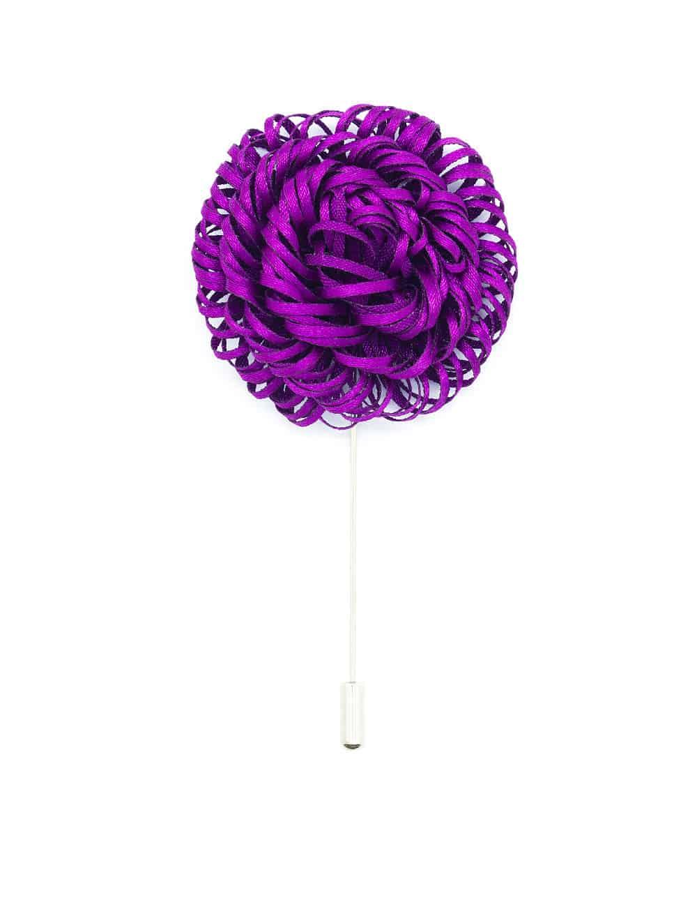 Plum Red Twirl Floral Lapel Pin LP55.10