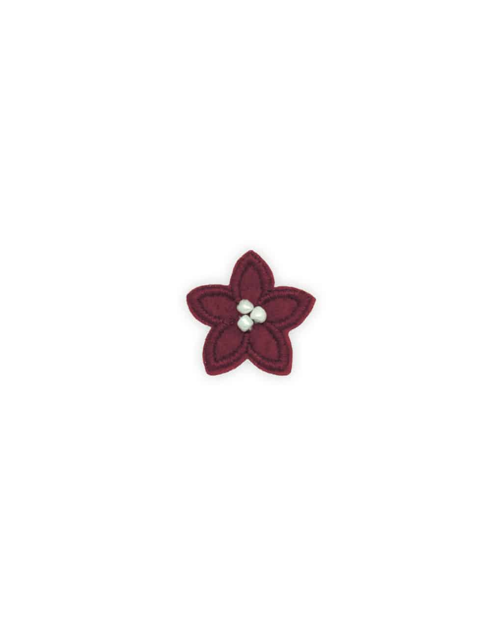 Red with White Floral Lapel Pin LP9.10