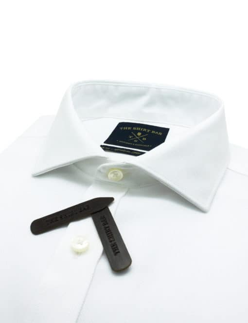 Modern Fit Double Ply Non-iron 100% Premium Cotton Solid White Long Sleeve Single Cuff Shirt with Long Lasting White Finishing MF1A2.NOS