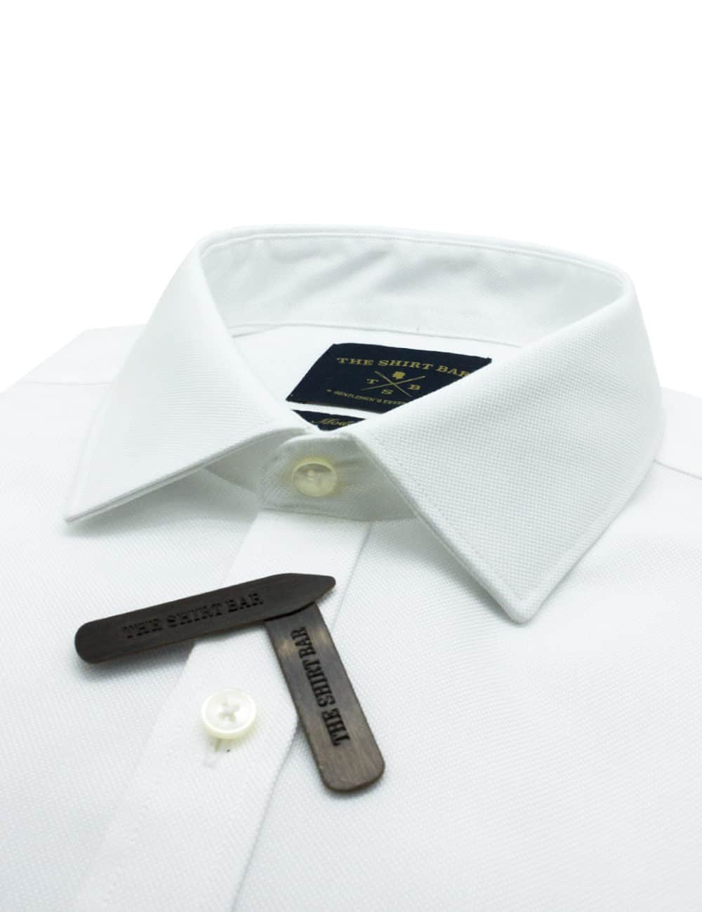 Modern Fit Double Ply Non-iron 100% Premium Cotton Solid White Long Sleeve Single Cuff Shirt with Long Lasting White Finishing MF2A2.NOS