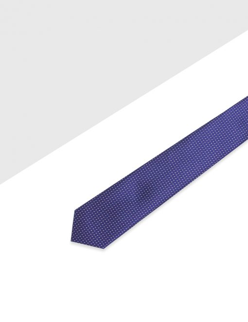 Purple with White Lines Woven Necktie - NT31.4