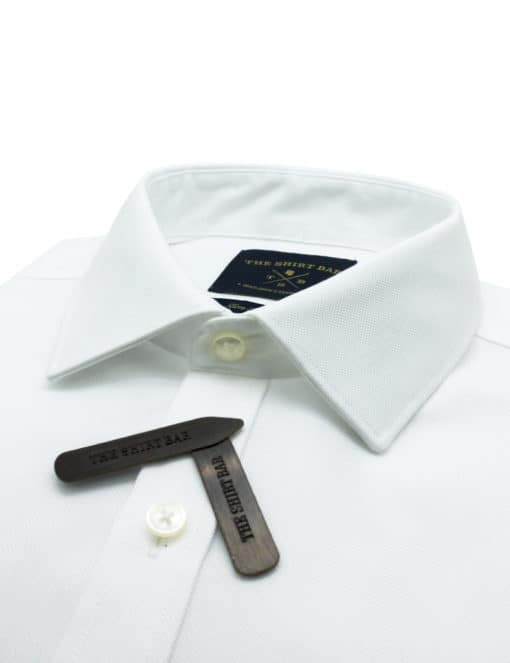 Slim Fit Double Ply 100% Pure Cotton Long Sleeve Solid White 2-Ply Non-Iron Long Sleeve Single Cuff Shirt with Long Lasting White Finishing  SF2A1.NOS