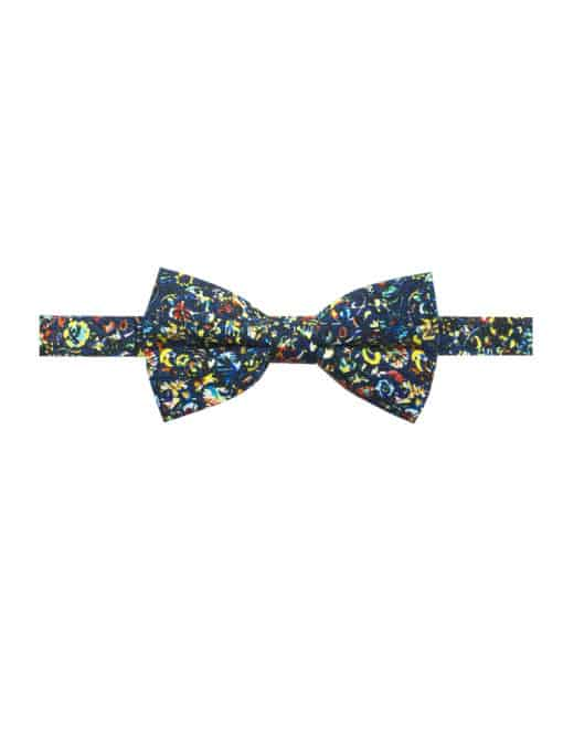 Multi Coloured Floral Print Woven Bowtie WBT1.9