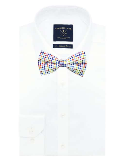 Multi Coloured Polka Dots Print Woven Bowties WBT3.9