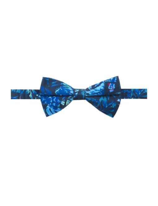 Navy Tropical Printed Bowtie WBT6.9