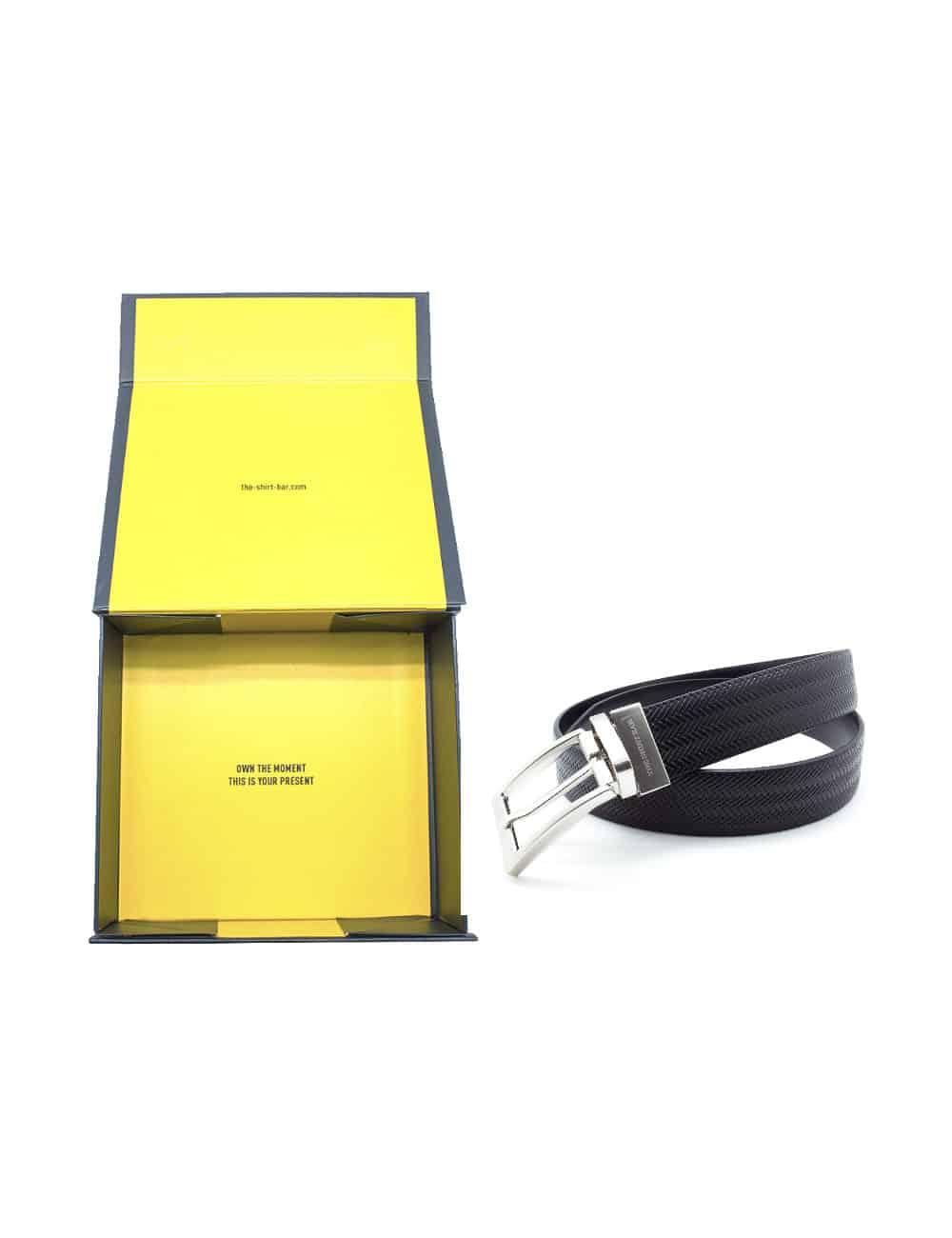 Black Reversible Leather Belt LBR1.8