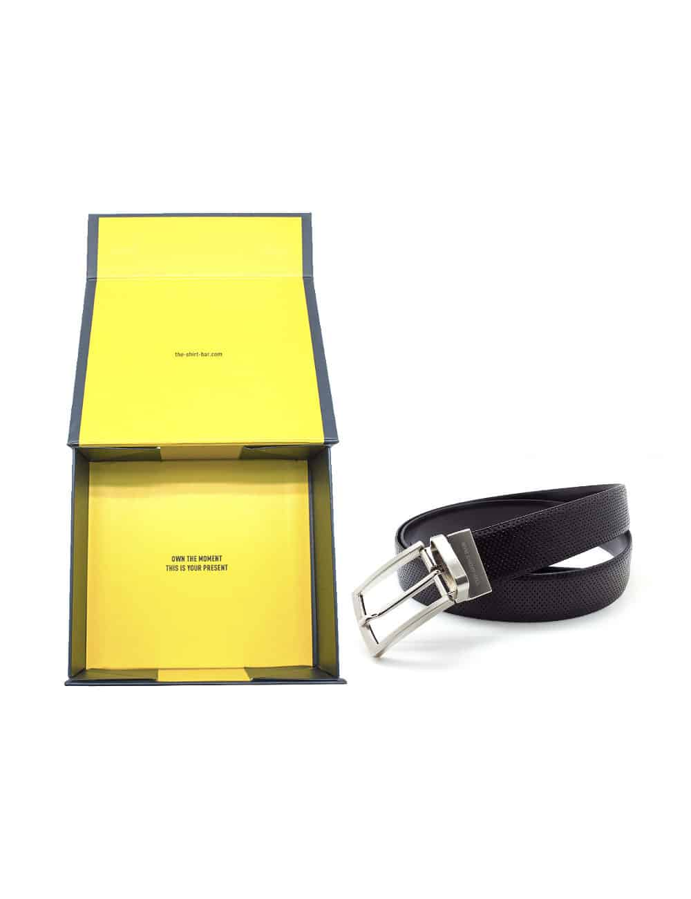 Black Reversible Leather Belt LBR13.8