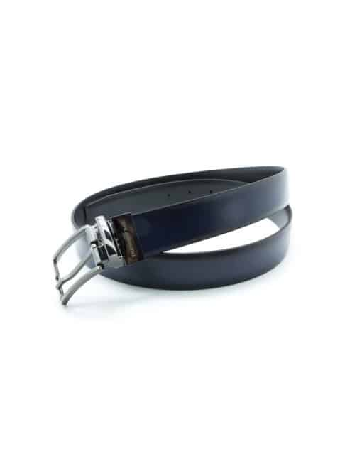 Navy / Black Reversible Leather Belt LBR17.5