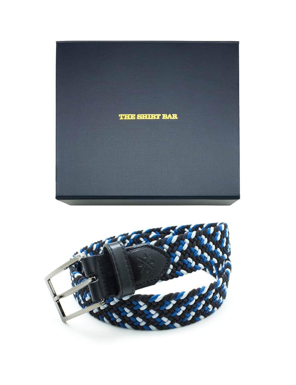 Black/ Blue/ White Webbing Belt NLB19.8