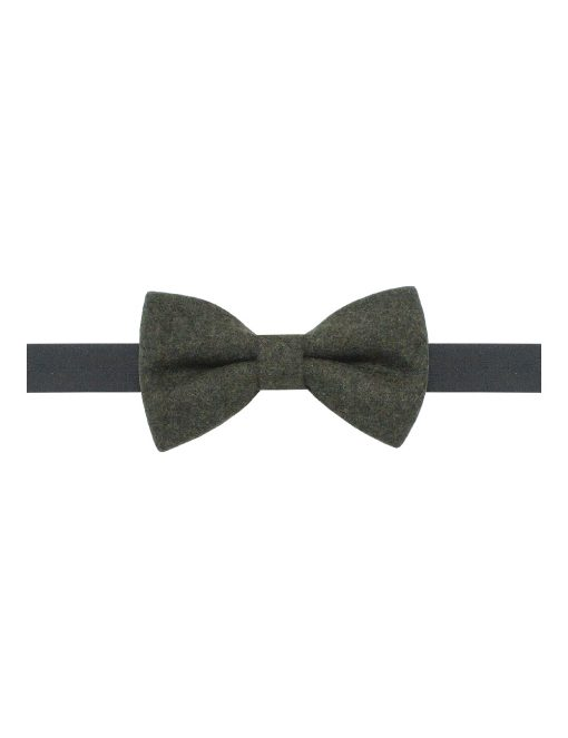 Solid Army Green Woven Bowtie - WBT38.2
