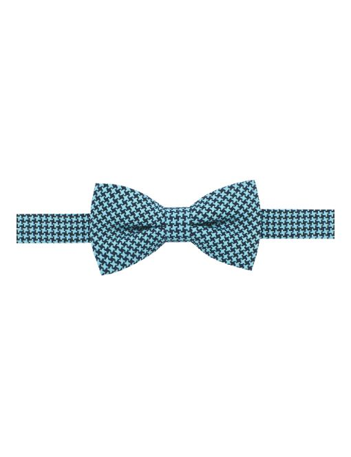 Turquoise and Black Pattern Woven Bowtie - WBT33.4