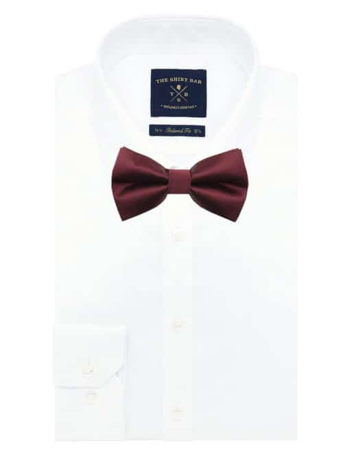 Solid Barn Red Woven Bowtie WBT1.7
