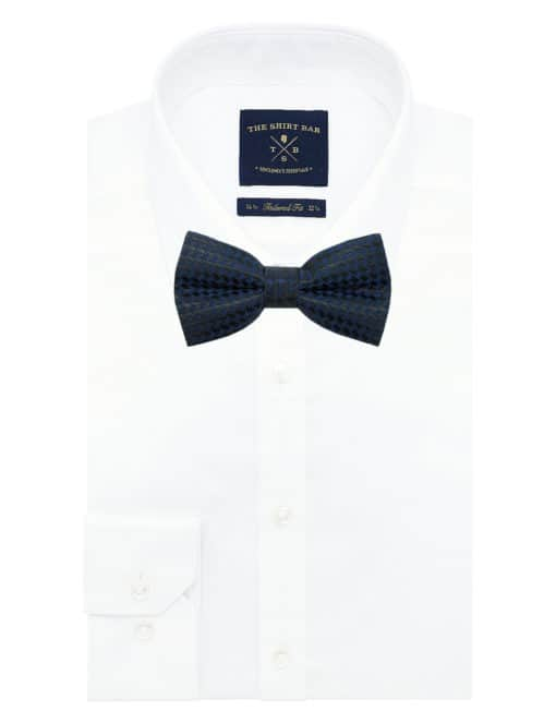 Navy and Black Dobby Woven Bowtie WBT15.7