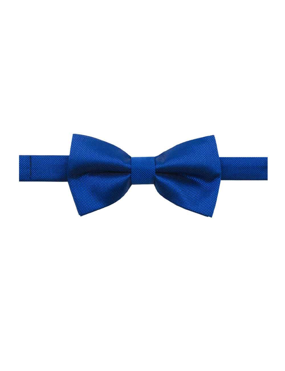 Blue Dobby Woven Bowtie WBT17.7