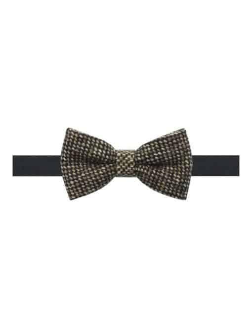 Black and Brown Weave Woven Clip-on Bowtie WBT23.8