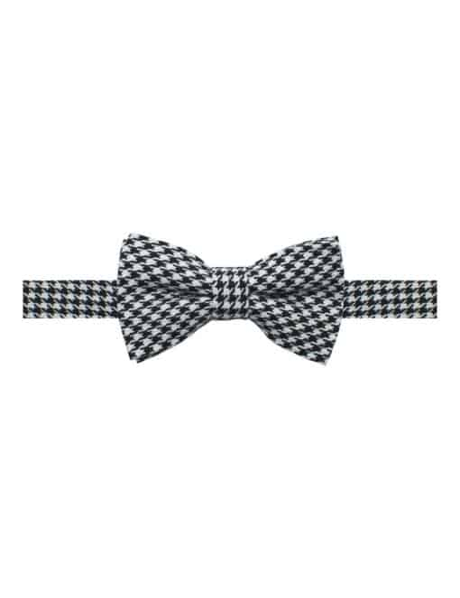 Black and White Houndstooth Woven Bowtie WBT25.8