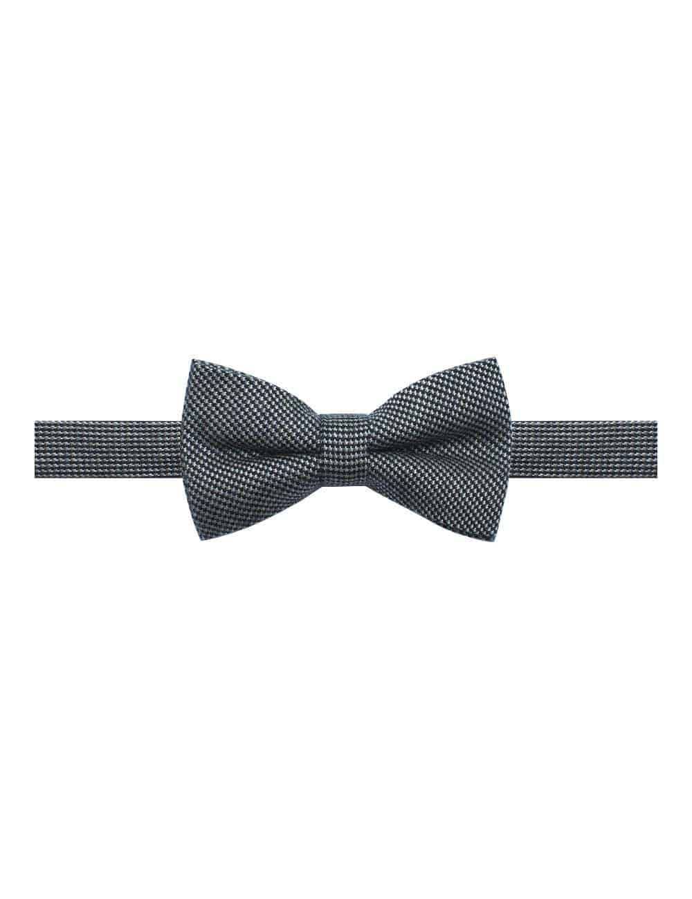 Black and White Pattern Woven Clip-on Bowtie WBT26.8