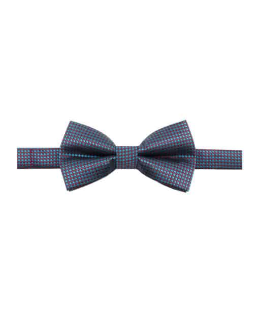 Green and Red Houndstooth Woven Bowtie WBT27.7