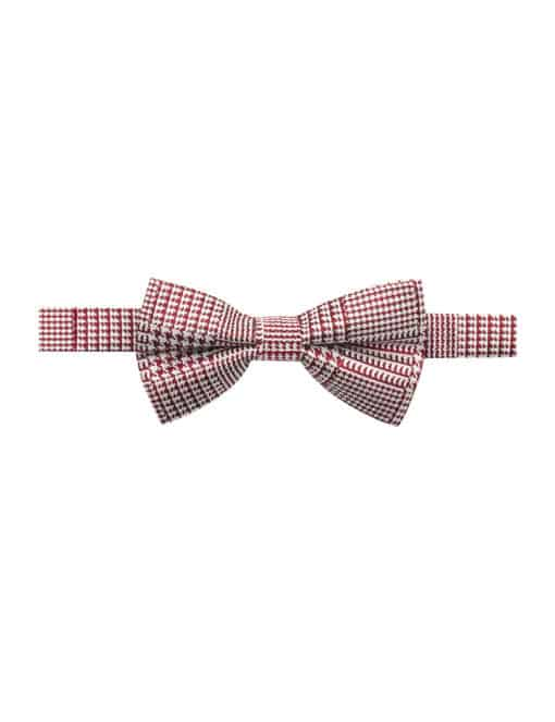 Red Dobby Woven Bowtie WBT30.7