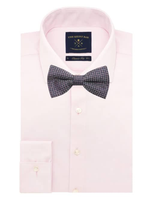 Pink Dobby Woven Bowtie WBT37.7