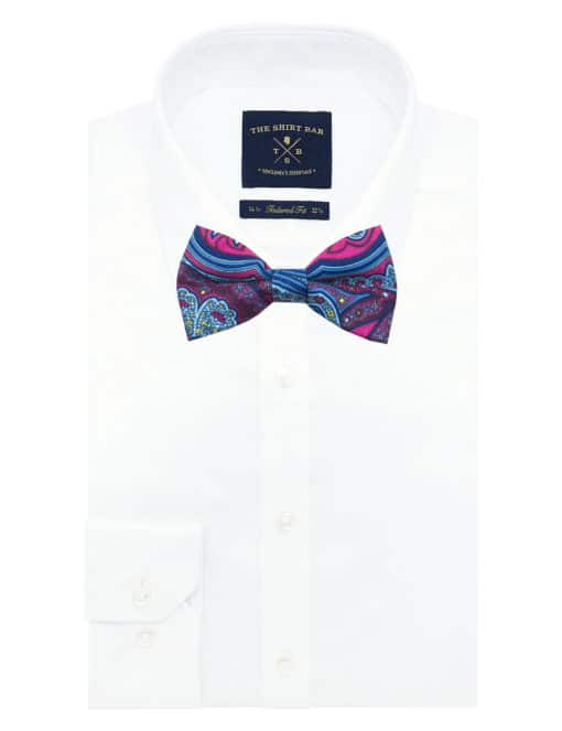Red Paisley Print Woven Bowtie WBT40.7