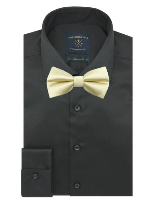 Solid Champagne Woven Bowtie WBT5.7