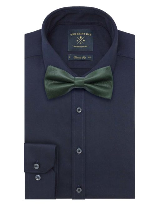 Solid Green Woven Clip-on Bowtie WBT8.8