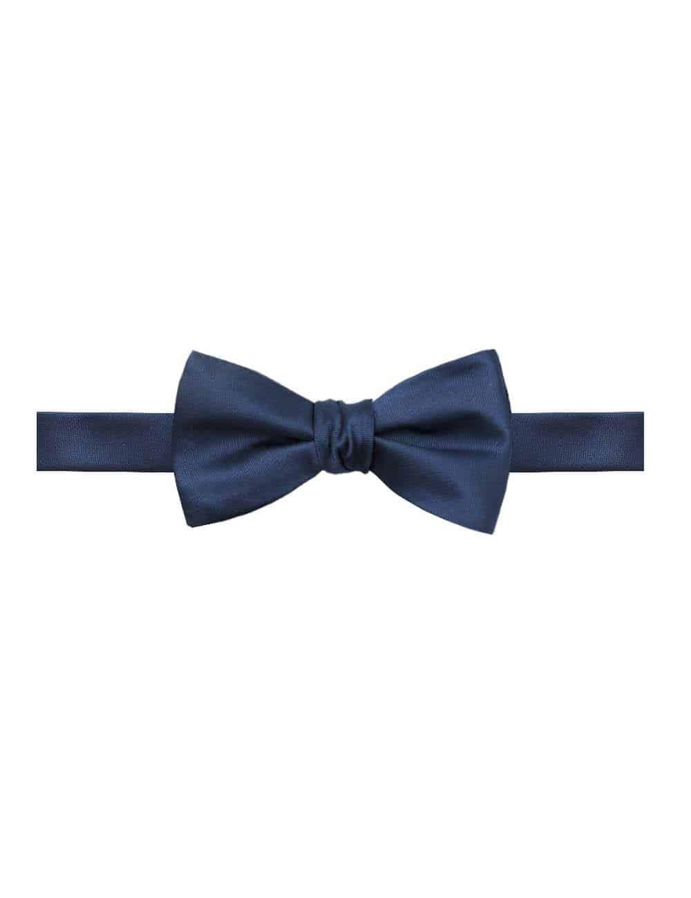 Solid Midnight Blue Woven Bowtie WSTBT2.11