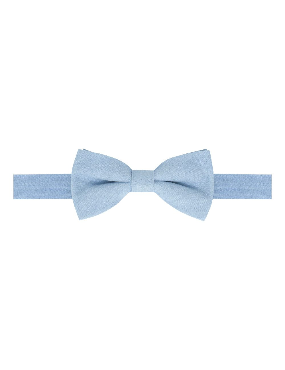 Washed Out Blue Denim Woven Bowtie - WBT41.3