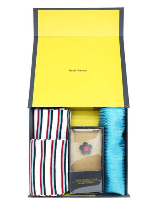 Stripes Socks/ Lapel Pin/ Pocket Square Gift Set AGS09SLP.1