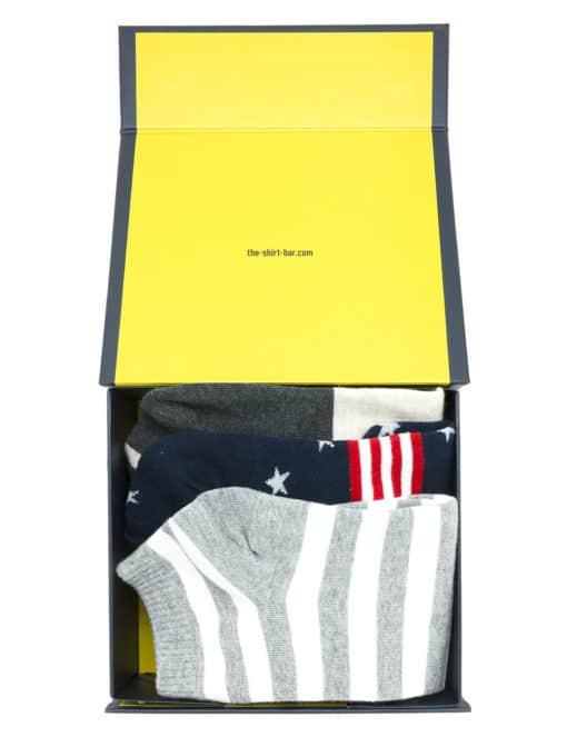 3 Pairs of Classic Ankle Socks Gift Set E SOCGS05.6