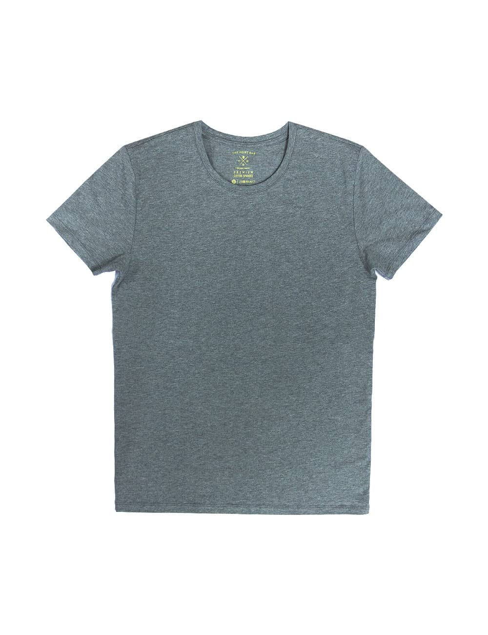Slim Fit Grey Premium Cotton Stretch Short Sleeves Crew Neck T-Shirt TS1A4.1