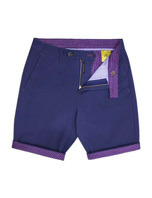 Blue Stretch Cotton Shorts - CSA5.3