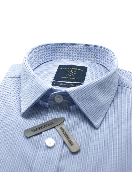 Blue Checks Easy Iron Classic Fit Shirt - CF2A2.19