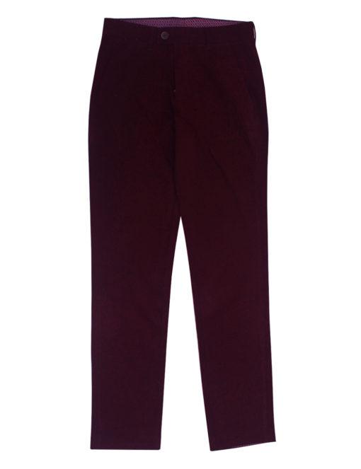 Slim Fit Maroon Casual Pants CPSFA3.2