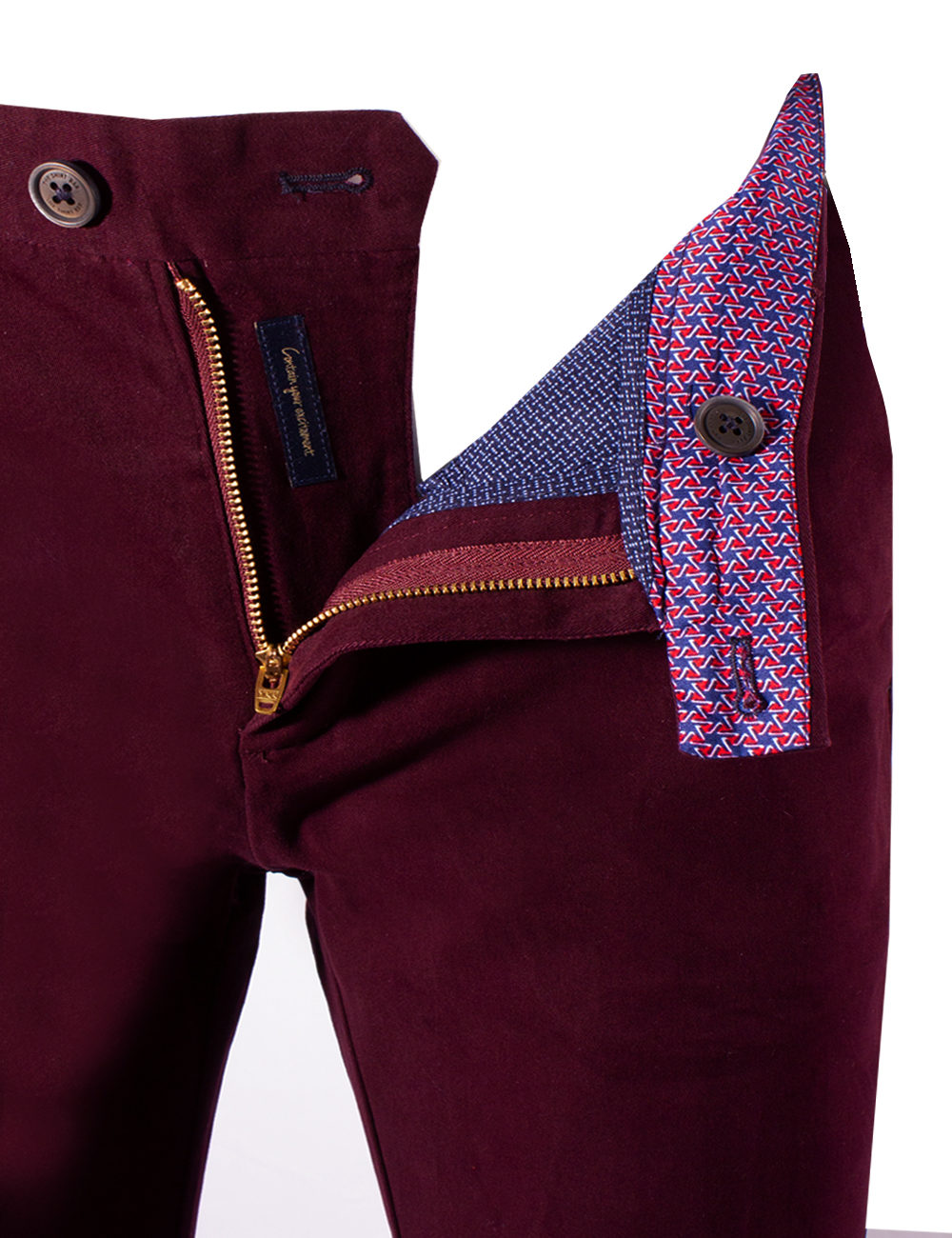 Slim Fit Maroon Casual Pants CPSFA3.2