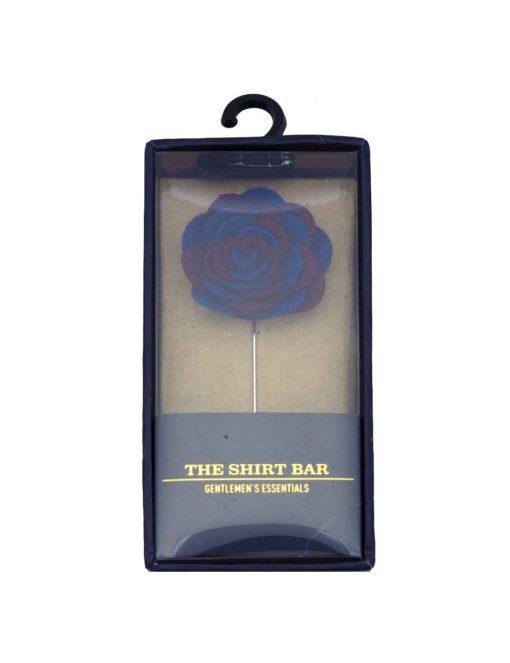 Maroon & Blue Felt Rose Lapel Pin LP62.8