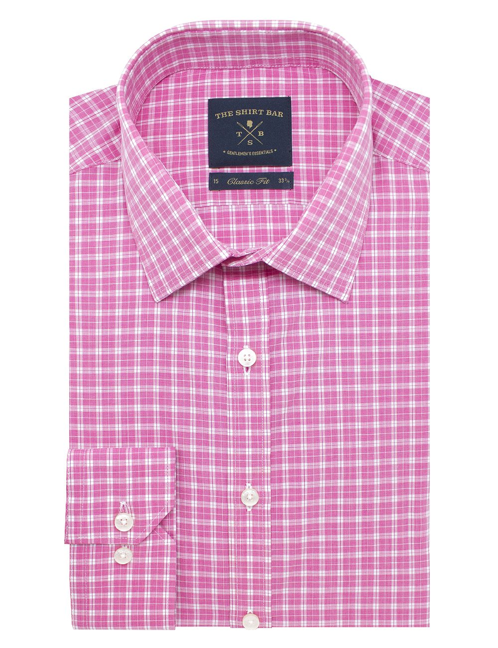 Pink Checks Modern / Classic Fit Long Sleeve Shirt - CF2A11.19