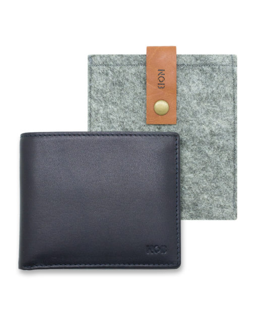 Navy 100% Genuine Top Grain Leather 2-in-1 Bifold 12CC Wallet with Contrasting Inner Colours and Lining and RFID Anti-theft SLG14.NOB1
