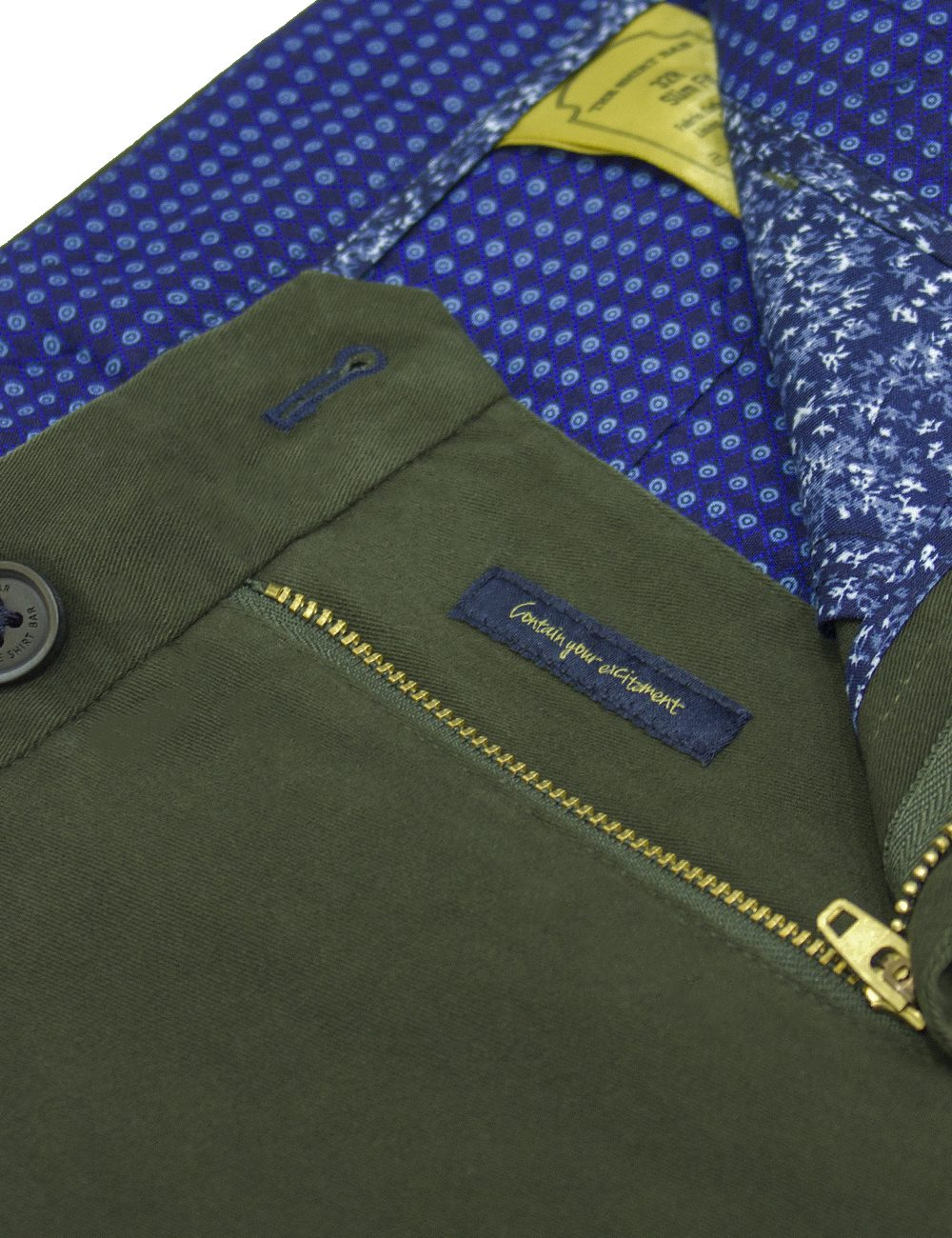 Slim Fit Olive Green Casual Pants - CPSFA2.2