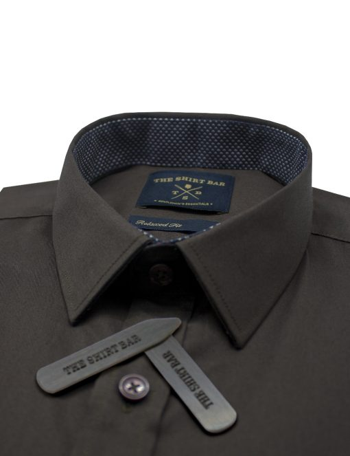 Solid Brown Custom / Relaxed Fit Short Sleeve Shirt – RF9SNB18.19
